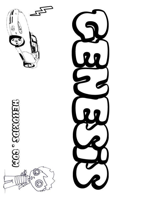 Genesis Band Coloring Page