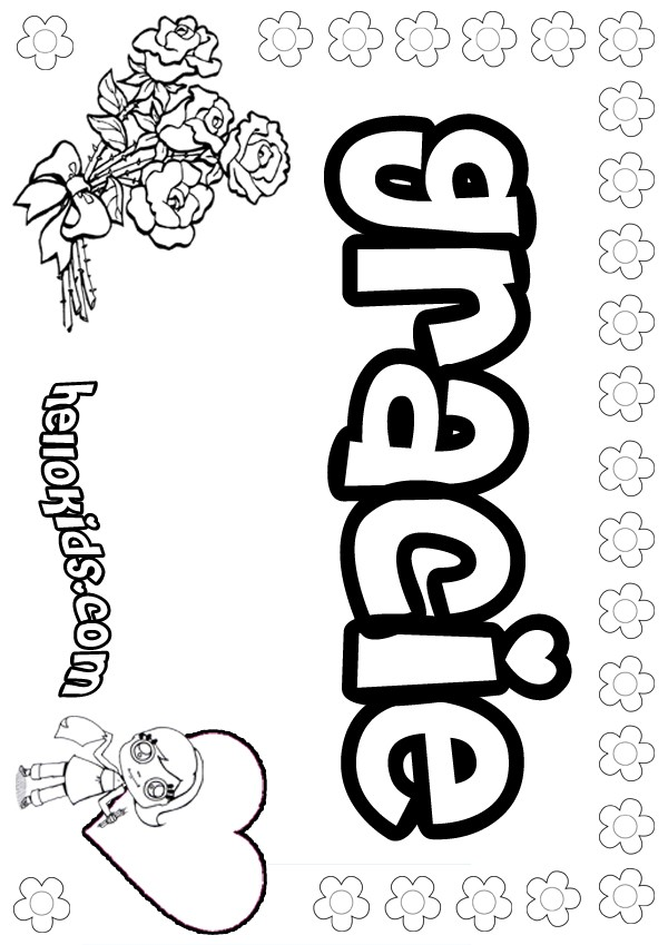 Free The Name Gracie Coloring Pages