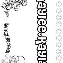 Hannah coloring pages Hellokids