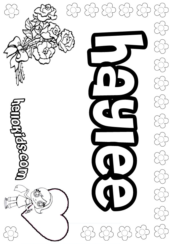 Haylee coloring pages Hellokids