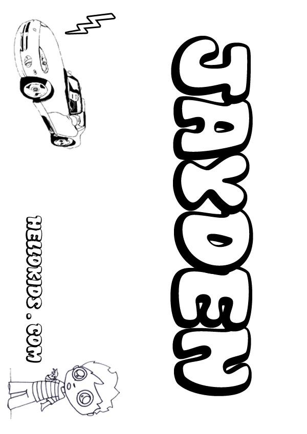 Jayden coloring pages Hellokidscom
