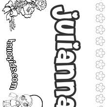 Juliana coloring pages Hellokids