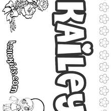 Kailey - Coloring page - NAME coloring pages - GIRLS NAME coloring pages - K names for girls coloring posters