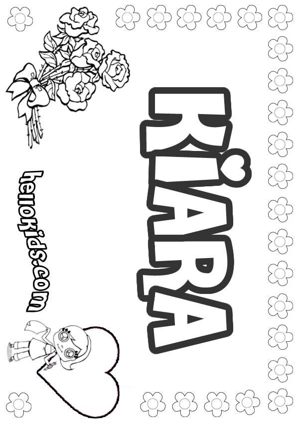 Kiara coloring pages Coloring book names