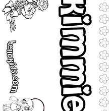 Kimmie - Coloring page - NAME coloring pages - GIRLS NAME coloring pages - K names for girls coloring posters