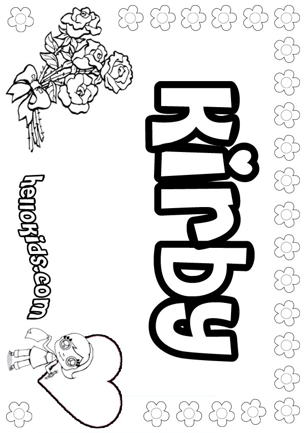 Kirby coloring pages  Hellokidscom