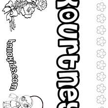Kourtney - Coloring page - NAME coloring pages - GIRLS NAME coloring pages - K names for girls coloring posters