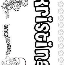 Kristina - Coloring page - NAME coloring pages - GIRLS NAME coloring pages - K names for girls coloring posters