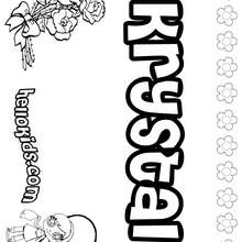 Krystal - Coloring page - NAME coloring pages - GIRLS NAME coloring pages - K names for girls coloring posters
