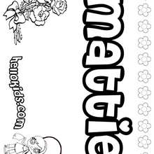 Mattie - Coloring page - NAME coloring pages - GIRLS NAME coloring pages - M names for girls coloring posters