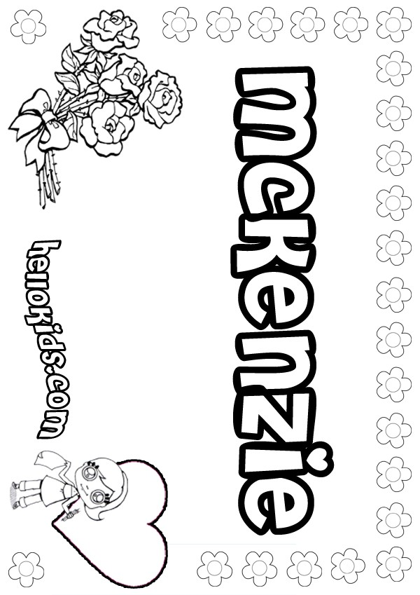 Girls Name Coloring Pages Mckenzie Girly Name To Color Name Coloring Pages To Print Out