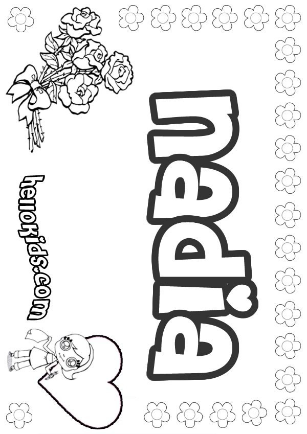 natalie name coloring pages | Nadia coloring pages - Hellokids.com