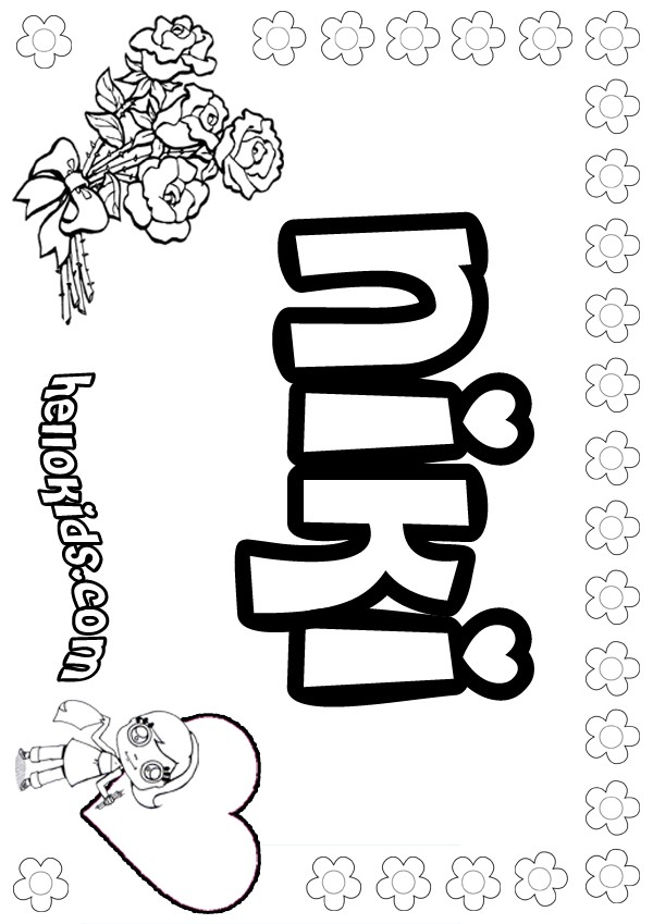 Nieve coloring pages - Hellokids.com