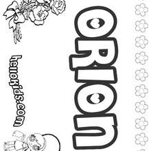 Orion - Coloring page - NAME coloring pages - GIRLS NAME coloring pages - O, P, Q names fo girls posters