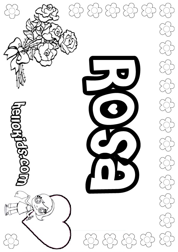 coloring sheet rosa parks girls name coloring pages rosa girly to color