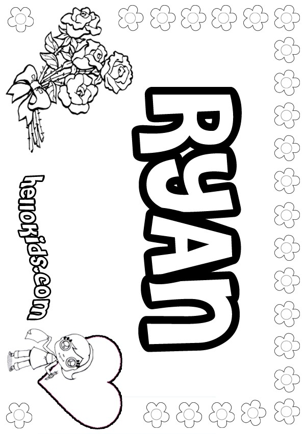 Ryan coloring pages - Hellokids.com