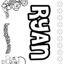 Ryan - Coloring page - NAME coloring pages - GIRLS NAME coloring pages - R names for girls coloring posters