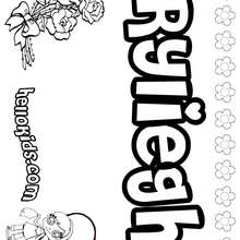 Ryliegh - Coloring page - NAME coloring pages - GIRLS NAME coloring pages - R names for girls coloring posters
