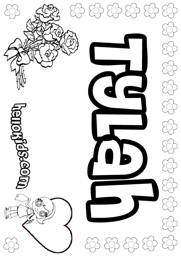 Tylah coloring pages Hellokids
