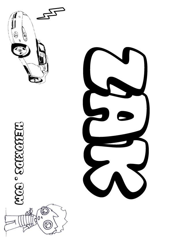 Zak coloring pages Hellokids
