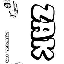 Zak coloring page