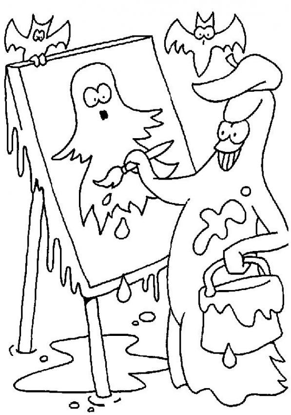 phantoms painting coloring page