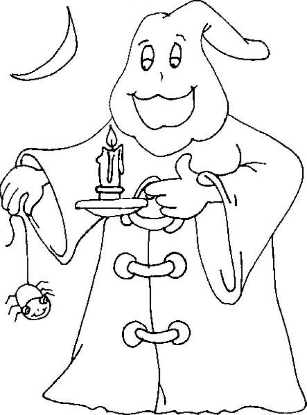 Ghost spectre coloring page