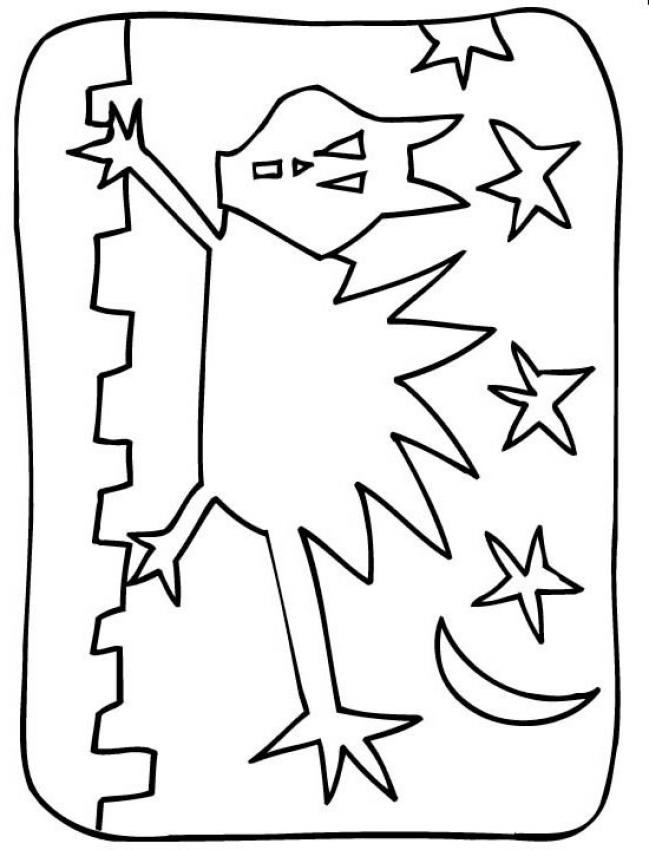 black cats coloring pages black cat under witch spell