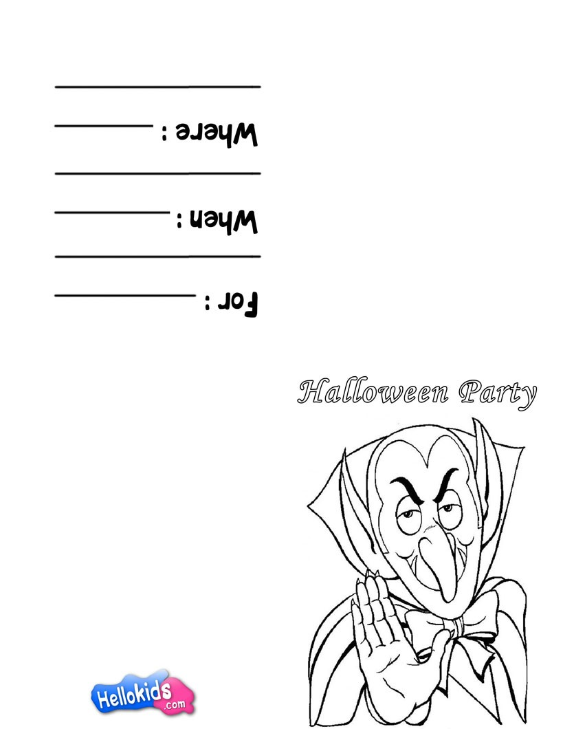Dracula's theme coloring page
