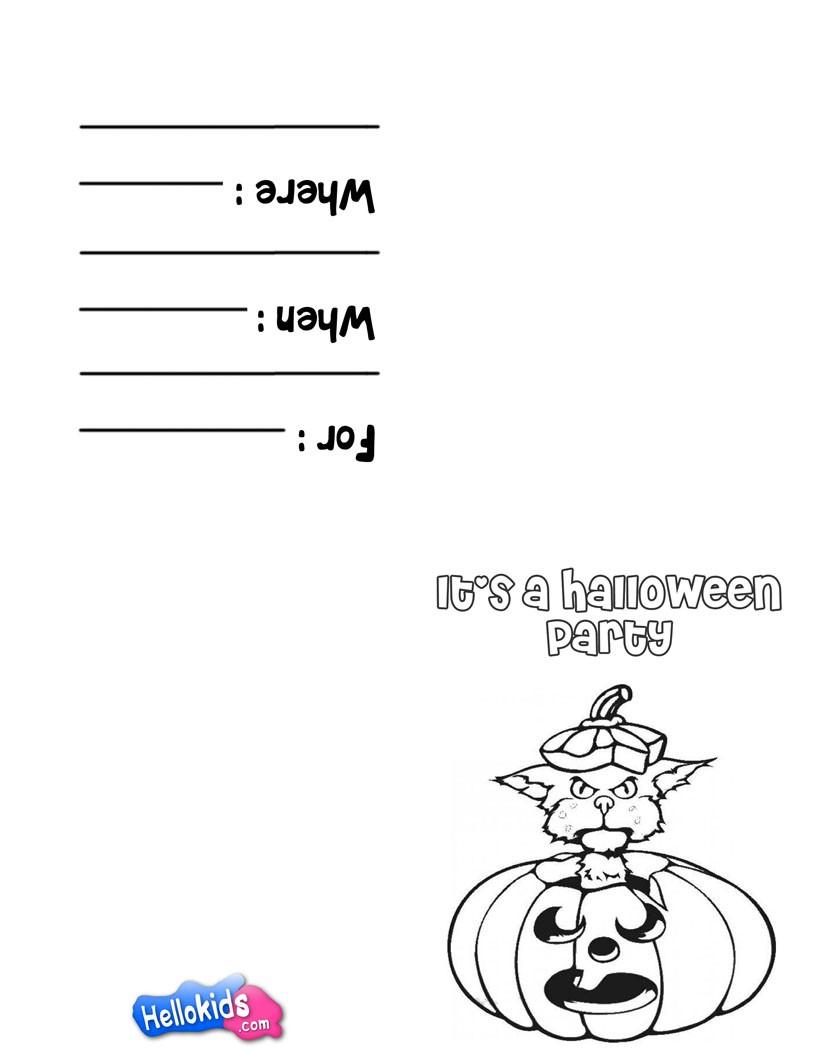 Black cat & Pumpkin coloring page