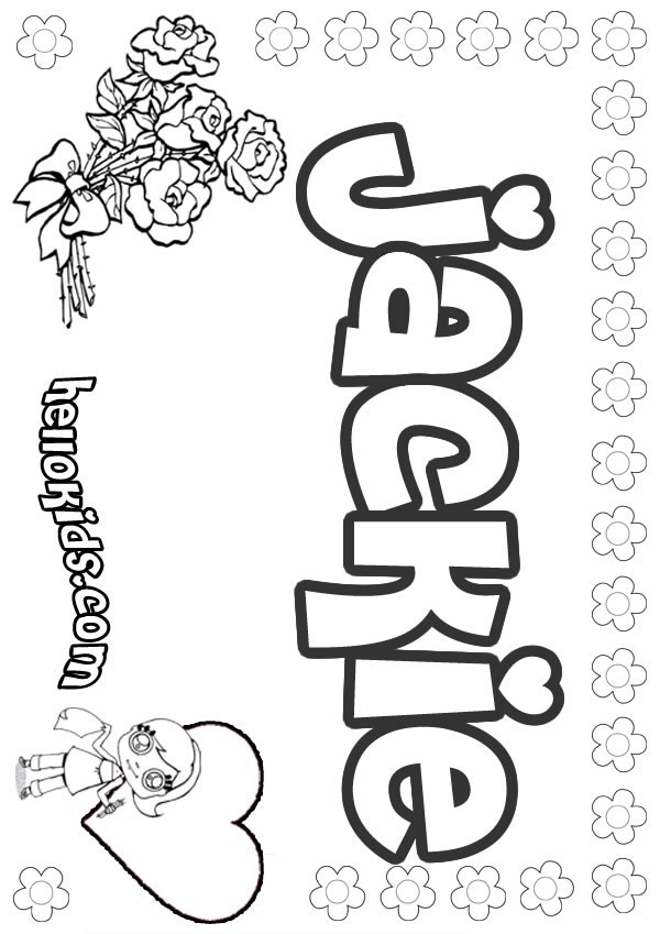Jackie coloring pages Hellokids