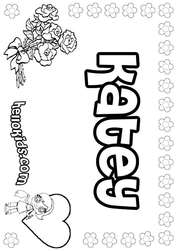 Katey coloring pages - Hellokids.com