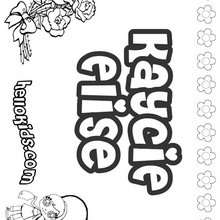 Kaycie Elise - Coloring page - NAME coloring pages - GIRLS NAME coloring pages - K names for girls coloring posters