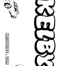Kelby - Coloring page - NAME coloring pages - BOYS NAME coloring pages - Boys names starting with K or L coloring posters