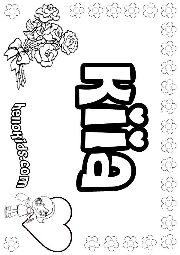 Kiara coloring pages - Hellokids.com