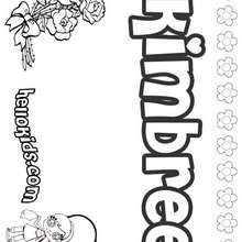 Kimbree - Coloring page - NAME coloring pages - GIRLS NAME coloring pages - K names for girls coloring posters