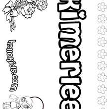 Kimerlee - Coloring page - NAME coloring pages - GIRLS NAME coloring pages - K names for girls coloring posters