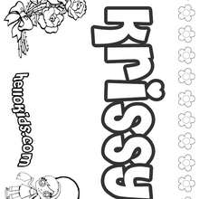 Krissy - Coloring page - NAME coloring pages - GIRLS NAME coloring pages - K names for girls coloring posters