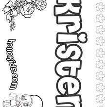 Kristen - Coloring page - NAME coloring pages - GIRLS NAME coloring pages - K names for girls coloring posters