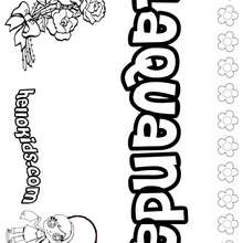 Laquanda - Coloring page - NAME coloring pages - GIRLS NAME coloring pages - L girl names coloring posters