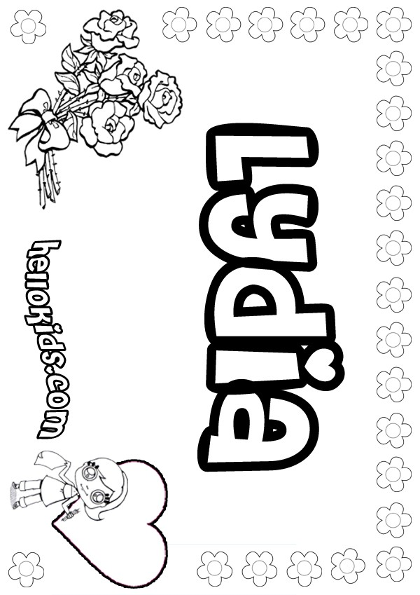 lydia coloring page lydia free colouring pages
