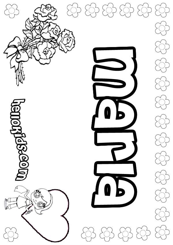Marla coloring page