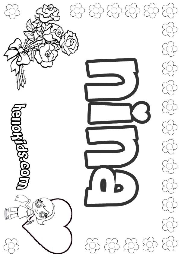 nina coloring pages