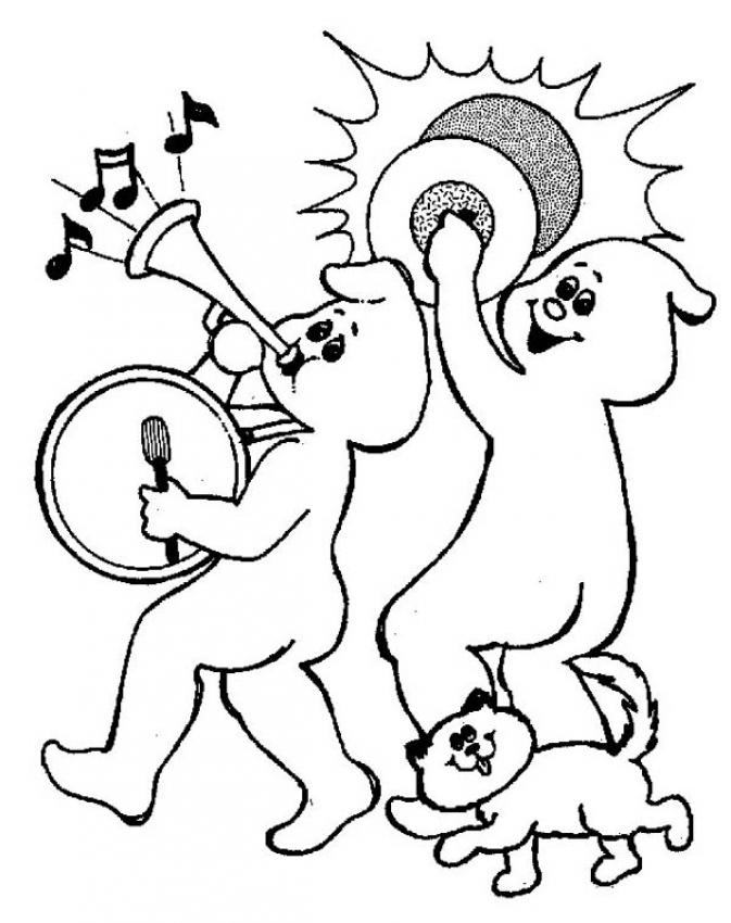 Musician spirits coloring page