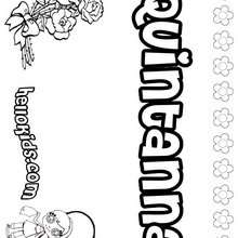 Quintanna - Coloring page - NAME coloring pages - GIRLS NAME coloring pages - O, P, Q names fo girls posters