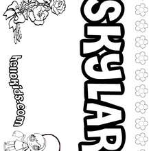 Skylar - Coloring page - NAME coloring pages - GIRLS NAME coloring pages - S girls names coloring posters