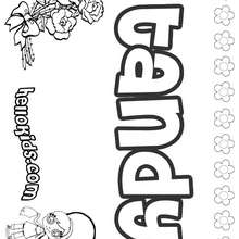 Tandy - Coloring page - NAME coloring pages - GIRLS NAME coloring pages - T names for girls coloring and printing posters