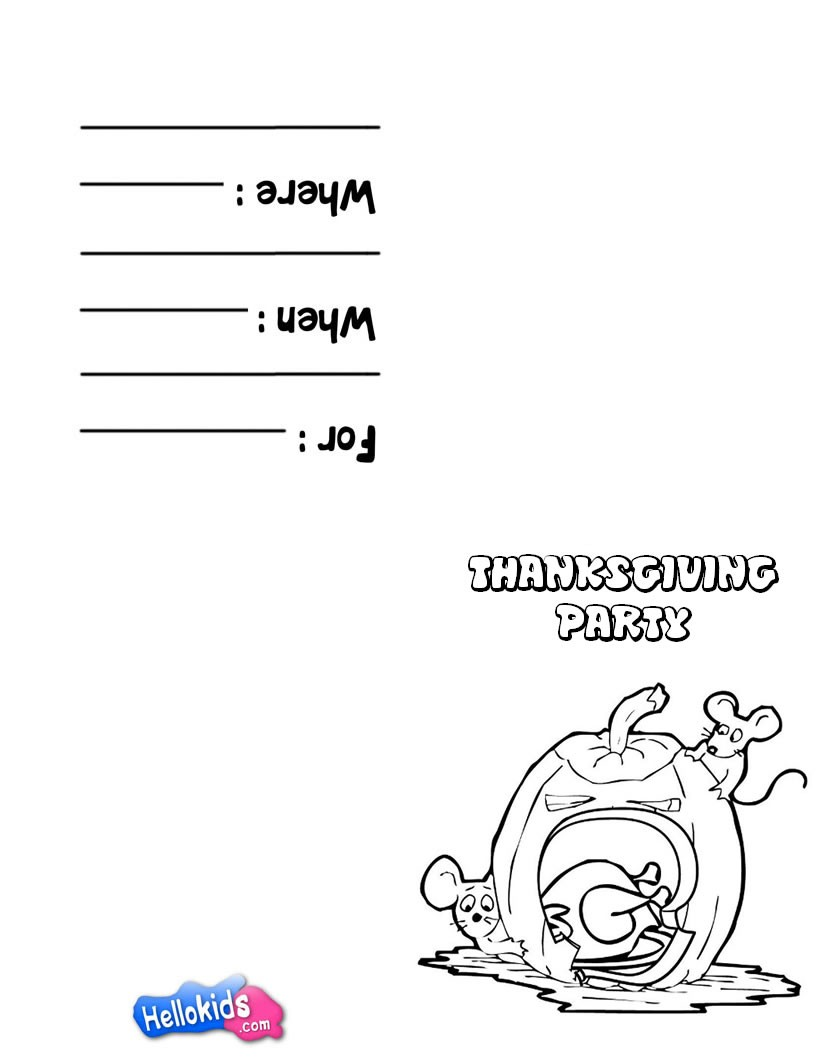 Pumpkin and Mice theme coloring page