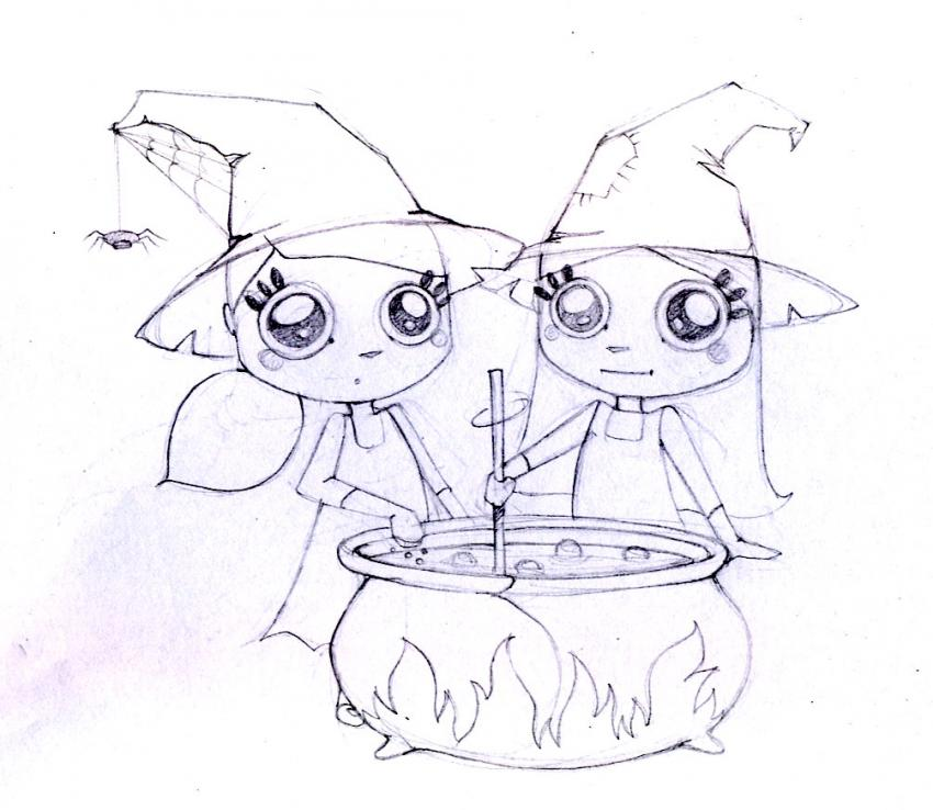 Sweet candy potion coloring pages - Hellokids.com