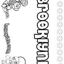 Brooklynn - Coloring page - NAME coloring pages - GIRLS NAME coloring pages - B names for girls coloring sheets